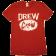 Drew Baldridge Red Drew Crew Tee