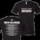 Drew Baldridge Senior Year 2020 Black Tee- PRESALE
