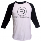 Drew Baldridge White and Black Raglan Tee